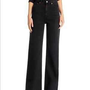 Levi's Ribcage Wide-Leg Jeans in Black Book
